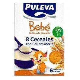 PULEVA BEBE PAPILLA 8 CEREALES GALLETA MARIA FOS 300 G 2 UNIDADES