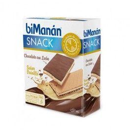 BIMANAN SNACK CHOCOLATE CON LECHE + VAINILLA (6UDS)