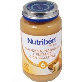 NUTRIBEN POTITO MERIENDA MANZANA NARANJA PLATANO GALLETA 190 G