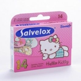 SALVELOX APOSITO ADHESIVO HELLO KITTY 14 U