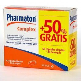 SANOFI PHARMATON COMPLEX 60+30 CAP GRATIS