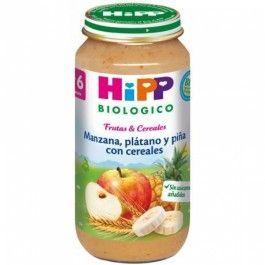 HIPP MANZANA, PLATANO Y PIÑA CON CEREALES 250G