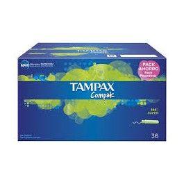 RECIO TAMPAX COMPAK REGULAR PACK 36 UDS