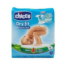 CHICCO PAÑALES DRY FIT MAXI PAÑALES TALLA 4 8-18KG