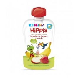 HIPP POUCHES FRUTAS (MANZANA PLATANO FRESA) 1X90 G