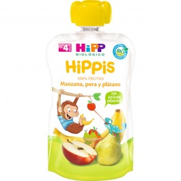 HIPP POUCHES FRUTAS (MANZANA PERA PLATANO) 1X90 G