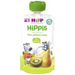 HIPP POUCHES FRUTAS (KIWI PERA PLATANO) 1X100 G