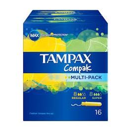 TAMPAX COMPAK MULTIPACK 8+8