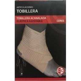 CERES TOBILLERA ACANALADA ELASTICA AJUSTABLE (M)