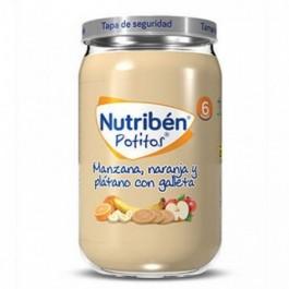 NUTRIBEN POTITO MANZANA NARANJA PLATANO Y GALLETA 235 G