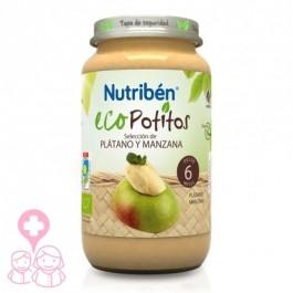 NUTRIBEN POTITO ECO INICIO A LA FRUTA PLATANO Y MANZANA 120 GR