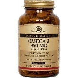 SOLGAR OMEGA-3 TRIPLE 50 CAPS